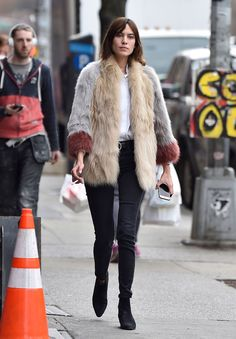 WHO: Alexa Chung WHERE: On the street, New York City WHEN: March 25, 2016