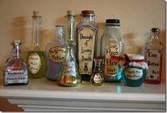 halloween bottles - Google Search
