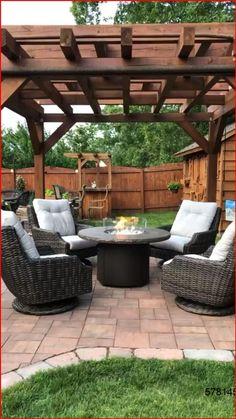 Fire Pit Seating, Backyard Seating, Backyard Patio Designs, Backyard Landscaping, Deck Patio, Patio Table, Patio Ideas, Backyard Chairs, Landscaping Ideas