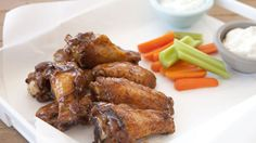 Baked chicken wings with a slightly sweet hoisin glaze. Perfect for game day!
