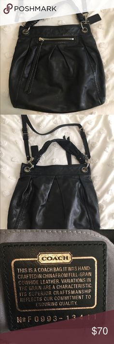 Coach Parker Hippie Bag Great condition, beautiful buttery leather. 14x14.5x3. Comes with both straps, can be worn over the shoulder or cross body. Very comfortable. Close up picture of small/faint stain on front of bag. Might be able to clean. No dustbag! Coach Bags Crossbody Bags