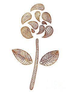 Contemporary botanical art print