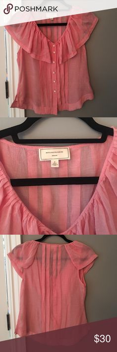 Baby Pink Top Gorgeous baby pink Moulinette Soeurs top! Excellent condition. Size 2 Moulinette Soeurs Tops Blouses