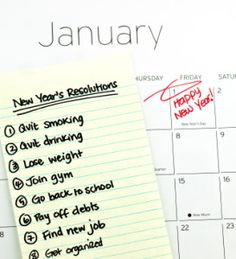 Find New Year Resolutions on Pinterest