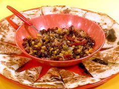 Get Rachael Ray's Wild Mushroom Quesadillas with Warm Black Bean Salsa Recipe from Food Network