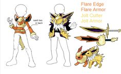 PSC- Flareon and Jolteon by Lybra1022