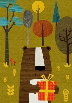 'Retro bear' by Rebecca Elliott