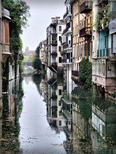 Water canal . Padua, Italy