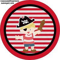 """Imprimés Thème """"Pirate Rayures"""" : http://fazendoanossafesta.com.br/2013/07/pirata-menino-kit-completo-com-molduras-para-convites-rotulos-para-guloseimas-lembrancinhas-e-imagens.html/"""