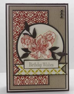 Pretty flowers-Cardstock: Early Espresso, Very Vanilla, Comfort Cafe DSP     Ink: Cajun Craze, Early Espresso     Stamp Sets: Everything Eleanor, Occasional Quotes (retired)     Other Products: Little Leaves Die, Circle Scissor (retired), Brads