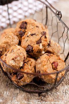 Scones aux 3 céréales, éclats de noisettes et chocolat (Sans lait, IG bas)