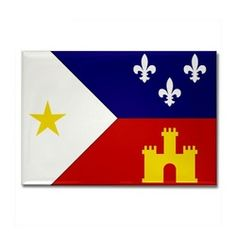 "Proud of its French heritage, Louisiana uses the fleur de lis to represent anything related to the State, especially the Southern part where the""Acadians"" (Cajuns) settled.  Regard the Louisiana-Acadian Flag.  The fleur de lis stands for the Acadians' French roots, the tower is for Spain- which ruled Louisiana during Acadian migration, & the gold star represents Our Lady of Assumption, Patroness of the Acadians.  The star also represents the Acadian soldiers who fought in the American…"