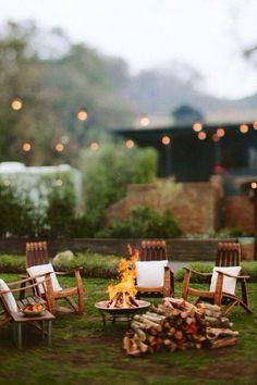 cozy fall fire