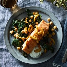 20 Best Salmon Recipes For Hearty Winter Dinners on Food52 Lemon Recipes, New Recipes, Cooking Recipes, Favorite Recipes, Easy Cooking, Chickpea Fries, Best Salmon Recipe, Entrees, Seafood