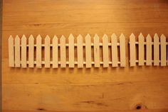 Popsicle stick fence idea