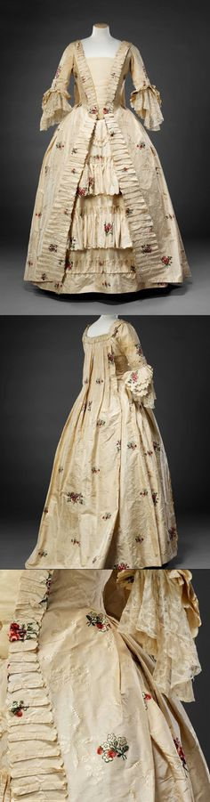 Gown, silk, 1770s | John Bright Collection