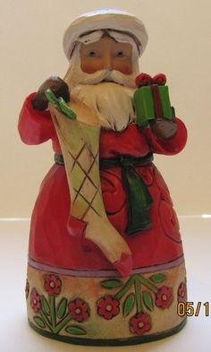 Enesco Jim Shore Pint Sized Santa with Stocking Item 4034369 | eBay $26.50