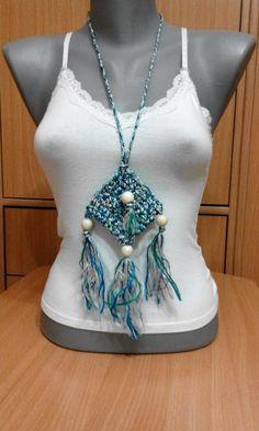 Crochet necklace made by Lidija Farago