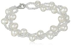 Bella Pearl Sterling Silver and Chinese Freshwater Cultured Pearl Beaded Bracelet Bella Pearl http://smile.amazon.com/dp/B00JKON0S6/ref=cm_sw_r_pi_dp_01GUwb0WA1H8Z