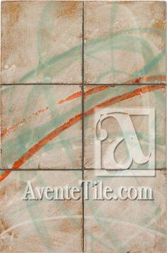 "David Shipley Conversation 4 | 12"" x 18"" Mural Hand-Painted Ceramic Tile | Avente Tile"