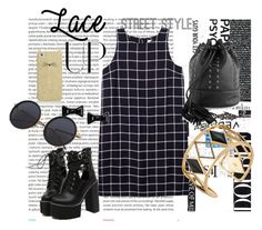 """""""Lace It Up"""" by beereem ❤ liked on Polyvore featuring Oris, WithChic, Olive + Oak, Tobi, Marc by Marc Jacobs, Rebecca Minkoff, Kate Spade and laceup"""