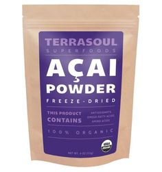 Acai Berry Powder (Freeze-dried, Organic), 4-ounce Terrasoul Superfoods http://www.amazon.com/dp/B00EHNLF4Q/ref=cm_sw_r_pi_dp_5NKiub1M0NBDR