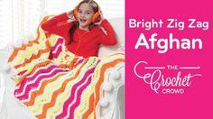 Crochet Bright Zig Zag Afghan + Diagram + Tutorial