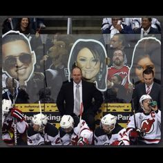 Kings fans letting the Devils know they're fans of the show...