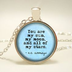 Cute e.e. Cummings quote necklace