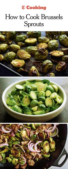 For decades, brussels sprouts battled a bad reputation. But the ways they're being cooked now would make any vegetable jealous: roasted with honey and harissa until crispy; sautéed with salty sausage and topped with pickled red onions; doused with cream and baked with cheese until thick and bubbling. Here are five simple methods for cooking brussels sprouts, which are more versatile than greens and just as delicious. (Photos: Karsten Moran for NYT)