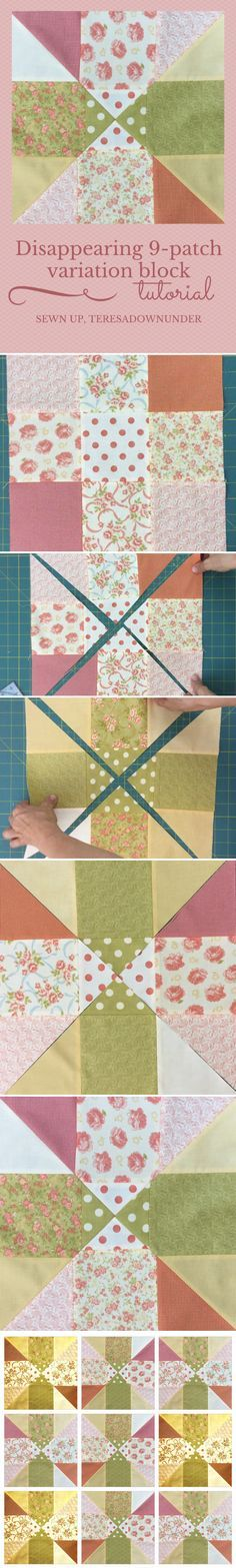 Video tutorial: disappearing 9 patch block variation 2