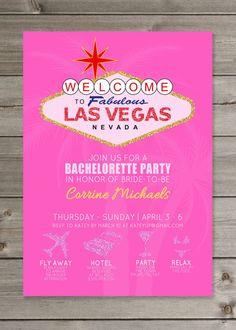 Las Vegas Bachelorette Party Glitter by GaiaDesignStudios on Etsy