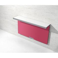 Mesa de cocina plegable mco1150003 SINGLE WALL cerrada blanco/fucsia