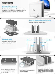 Helpful Vertical Laptop Stand Adjustable Laptop Holder Desktop Stand Adjustable Dock Computers/tablets & Networking
