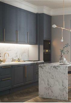 Luxury Kitchen Design, Kitchen Room Design, Home Decor Kitchen, Interior Design Kitchen, Home Kitchens, Classic Kitchen, Kitchen Dinning Room, Küchen Design, House Design