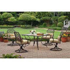 outdoor patio furniture better homes and gardens 5 pc aluminum rh pinterest com