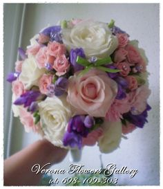 Bridal bouquet. Pink and violet.