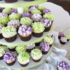 cake cupcake tower wedding hydrangea   hydrangea tower standard product id e 10008 cupcake towers are a great ...