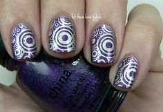 Bundlemonster, BM219, Circles, Silver/Purple