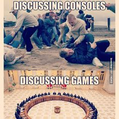 Discussing Consoles gets REAL!  Haha. #concouture #gamerproblems #ps4 #xboxone #xbox360 #gamergirls #funnyfriday #9gag