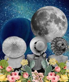 """Moon Bath"" by kikicollagist | Redbubble"