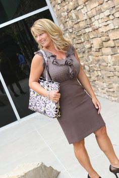 Amy Michelle Austin in Charcoal Floral  Work/School/Travel/Diaper bag