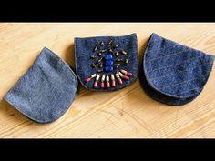 Reciclaje de Jeans: Monedero Nuevo Modelo - YouTube Easy Sewing Projects, Sewing Crafts, Denim Bag Patterns, Denim Handbags, Diy Purse, Clutch Wallet, Bag Making, Purses And Bags, Texans