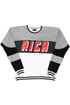 RICH TECH ATHLETIC CREW / BLACK MULTI #joyrich