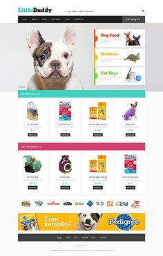 #PetsStore website template - $115 #Wordpress #WooCommerce #Blog #ResponsiveDesign