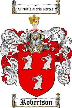 Robertson family crest / coat of arms www.4crests.com #coatofarms #familycrest #familycrests #coatsofarms #heraldry #coat #of #arms #family #genealogy #family reunion #names #reunion #history #medieval #code of arms #family shield #shield #crest #clan #badge #coats of arms #geneology #tattoo #ancestry #coat of arms