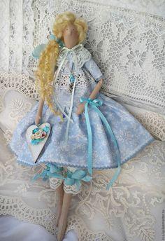 Купить Кукла Тильда - голубой, тильда, тильда кукла, кукла ручной работы, интерьерная кукла ☆