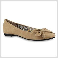 53d43f0676d8de Klassische Damen Ballerinas Damen Flach Ballerina Schleifen Schuhe 143333  Hellbr
