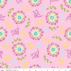"""""""Floriography"""" Riley Blake,  große Blüten rosa von FrauFrech-und-HerrFroehlich auf DaWanda.com"""