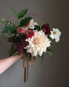 Late summer take on blush and burgundy flowers - natural bridal bouquet of cafe au lait dahlias zinnias amaranthus pokeweed burgundy pom dahlias hellebore and white cosmos Bridal Flowers, Flower Bouquet Wedding, Floral Wedding, Bouquet Flowers, Zinnia Bouquet, August Wedding Flowers, Late Summer Flowers, Wedding Inspiration, Flower Crowns